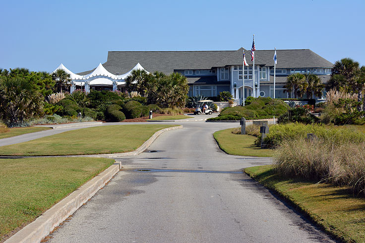A golf country club on Bald Head Island NC