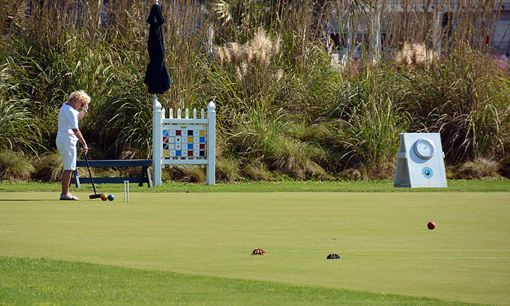 Playing Croquet on Bald Head Island, NC