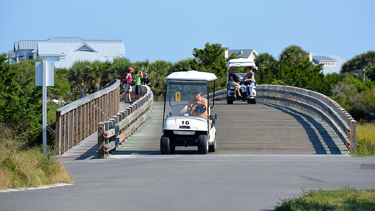 Cart bridge on Bald Head Island, NC