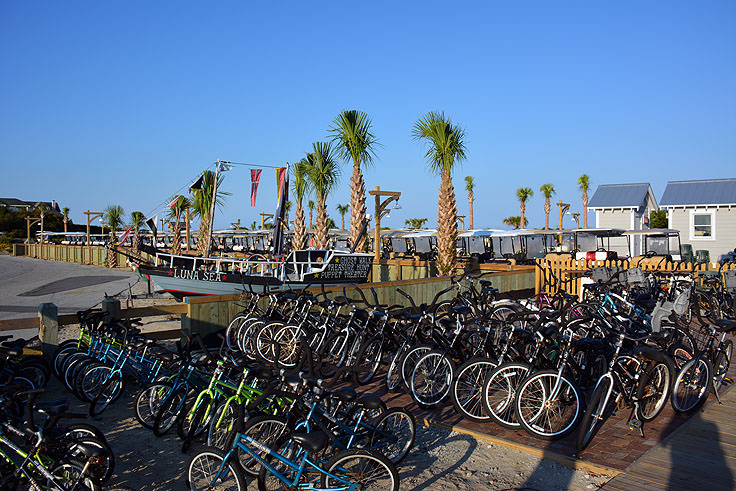 Bike rentals are popular on Bald Head Island, NC