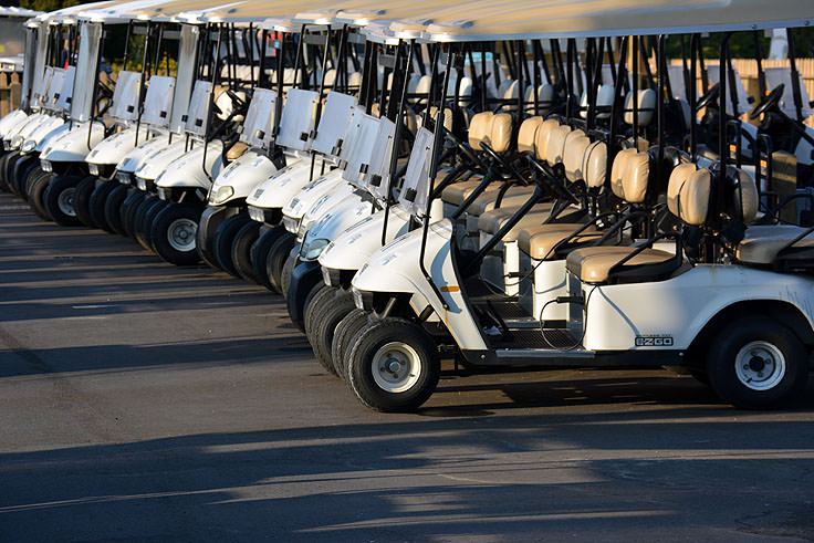 Golf cart rentals are very popular on Bald Head Island, NC