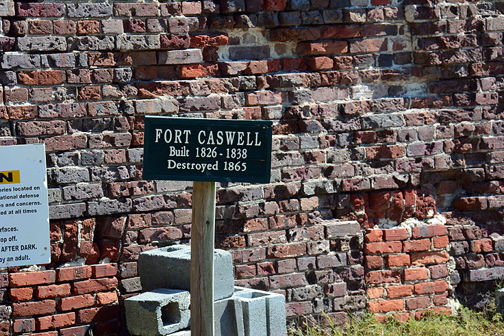 The walls of Fort Caswell