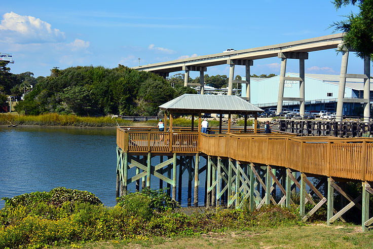 A dock near the bridge to Holden Beach, NC