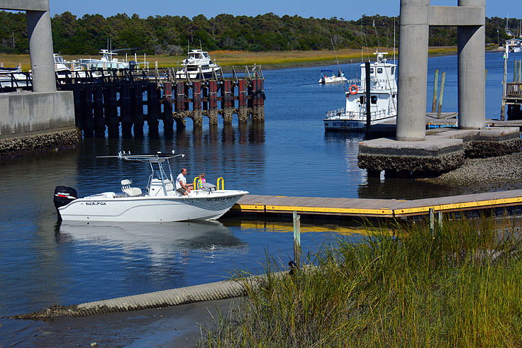 Boat ramp access at Holden Beach, NC
