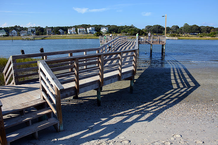 A waterfront dock in Ocean Isle Beach