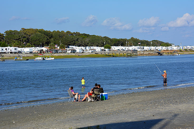 A campground overlooks Ocean Isle Beach