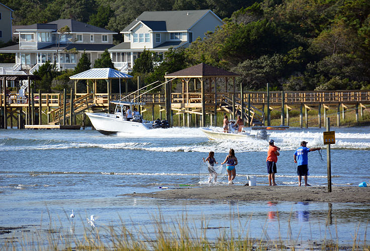 Fishing and boating are popular in Ocean Isle Beach