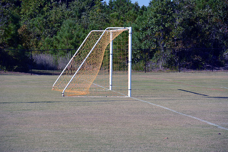 A soccer field at Ocean Isle Beach Park