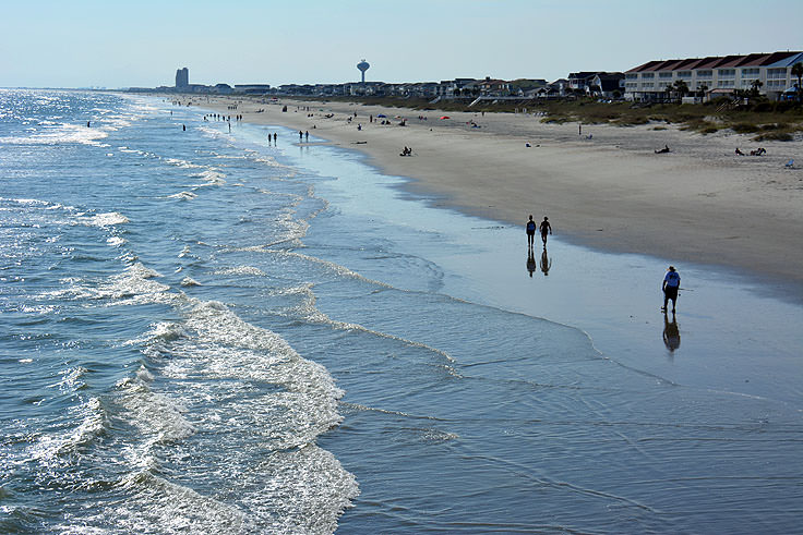 A View Of The Beach From Ocean Isle Pier