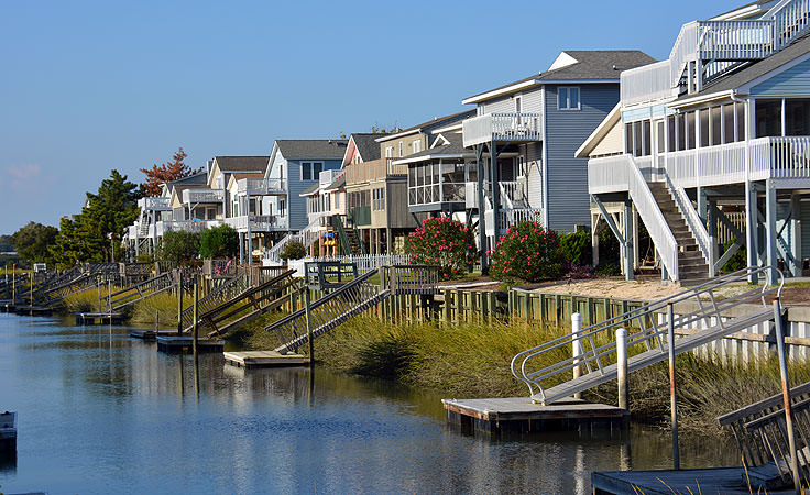 Homes Line Cs Near Sunset Beach Nc