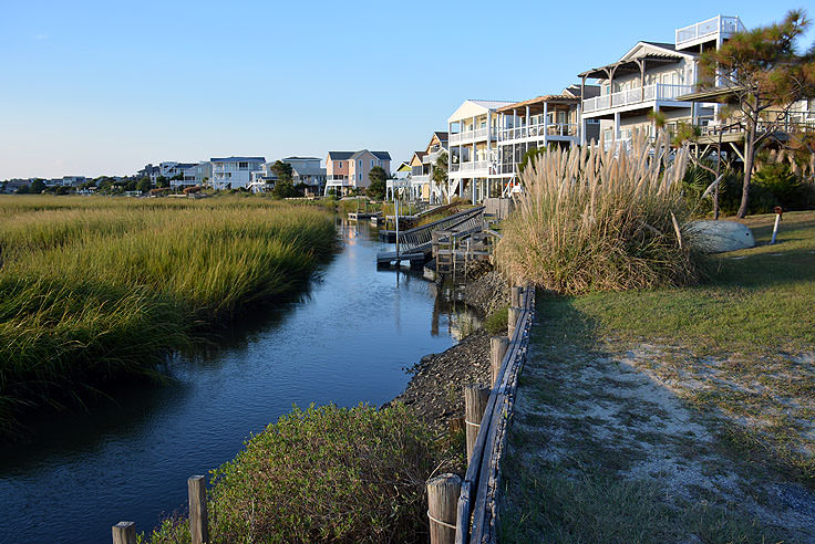 Waterfront homes in Sunset Beach, NC