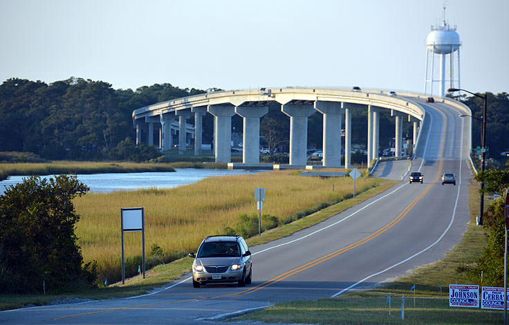 The bridge to Sunset Beach NC
