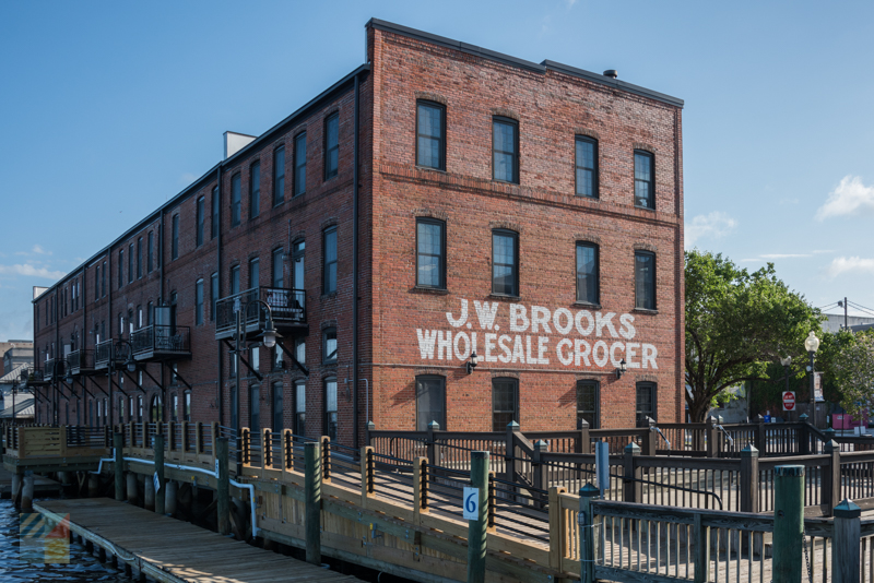 JW Brooks Building in historic Wilmington NC