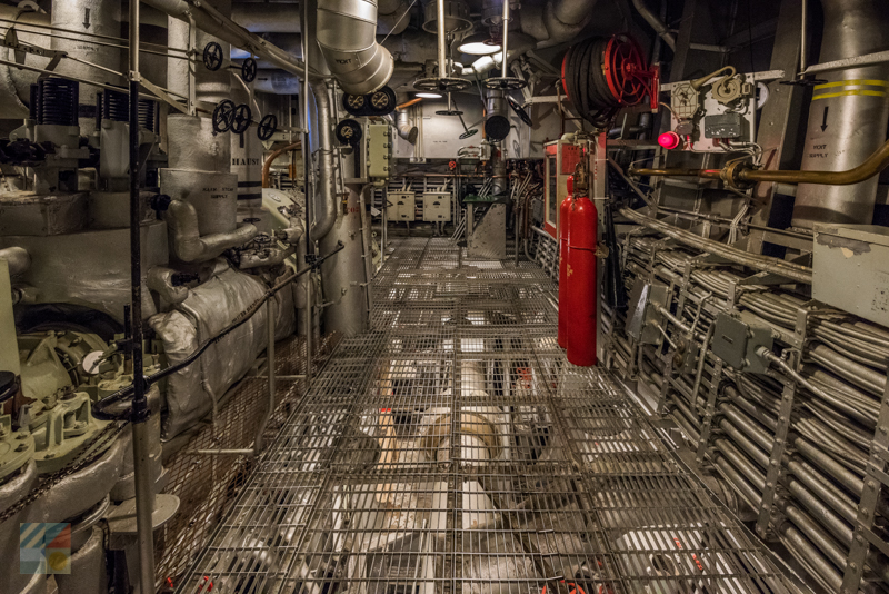 Tour below deck on the USS North Carolina