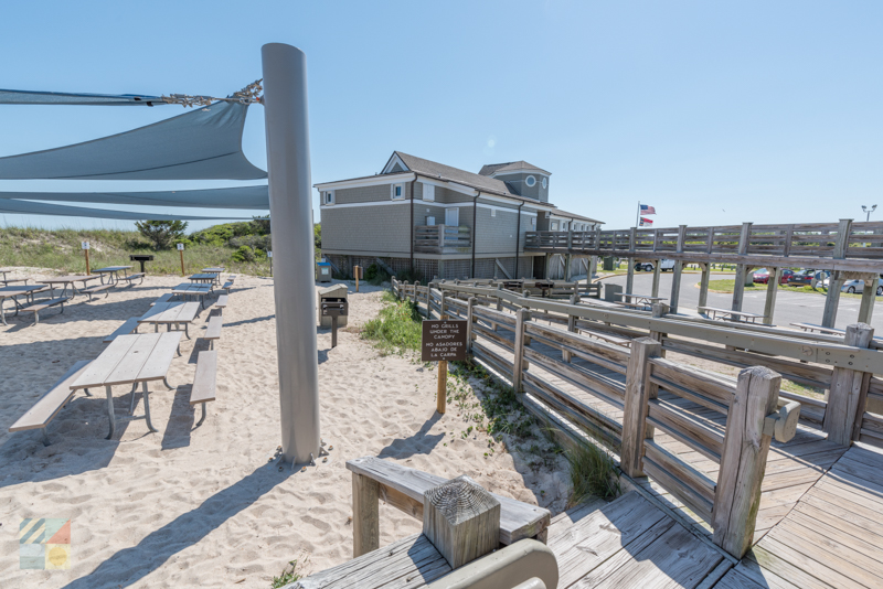Amenities at Fort Fisher Recreational Site Beach
