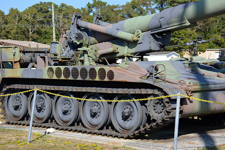 Mobile artillery at Fort Fisher Air Force Rec Area