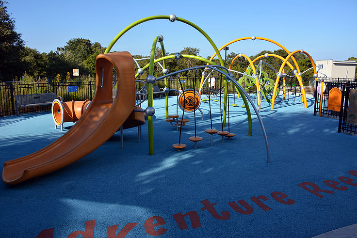 A playground at the N.C. Aquarium at Fort Fisher