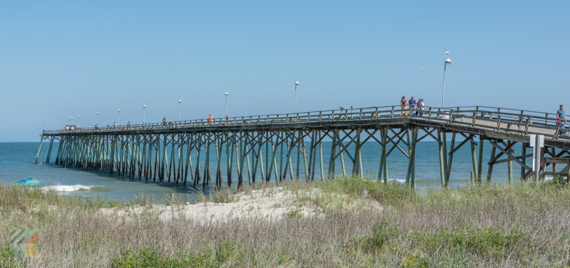 Kure Beach Pier next to Oceanfront Park