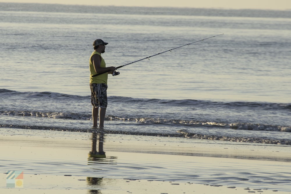Surf fishing on the Cape Fear coast