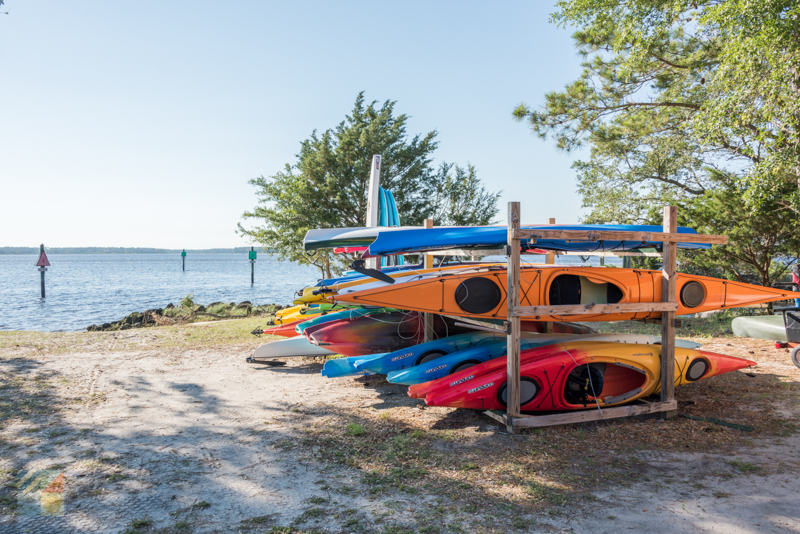 Kayak rental at Carolina Beach State Park