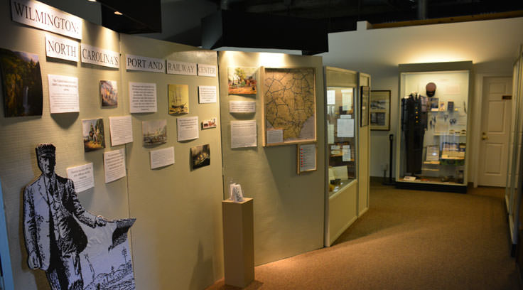 Exhibits at the Wilmington Railroad Museum